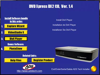DRIVERS: ADS TECH DVD XPRESS DX2