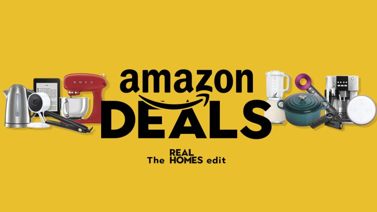 Amazon deals: Real Homes graphic on yellow background