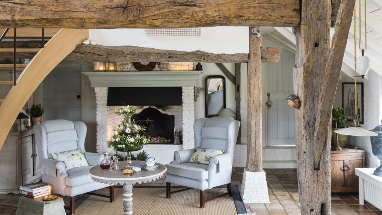 dutch farmhouse sitting room with beams