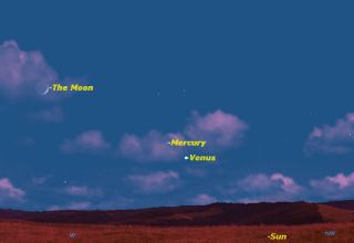 Mercury Sky Map, June 12, 2013