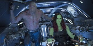 Drax and Gamora in Guardians of the Galaxy