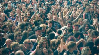 A picture of fans enjoying Bloodstock 2016