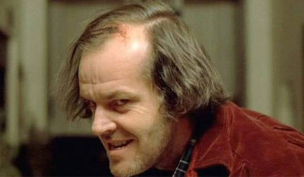 A crazy Jack Nicholson in The Shining