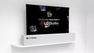 LG:s utdragbara OLED TV.