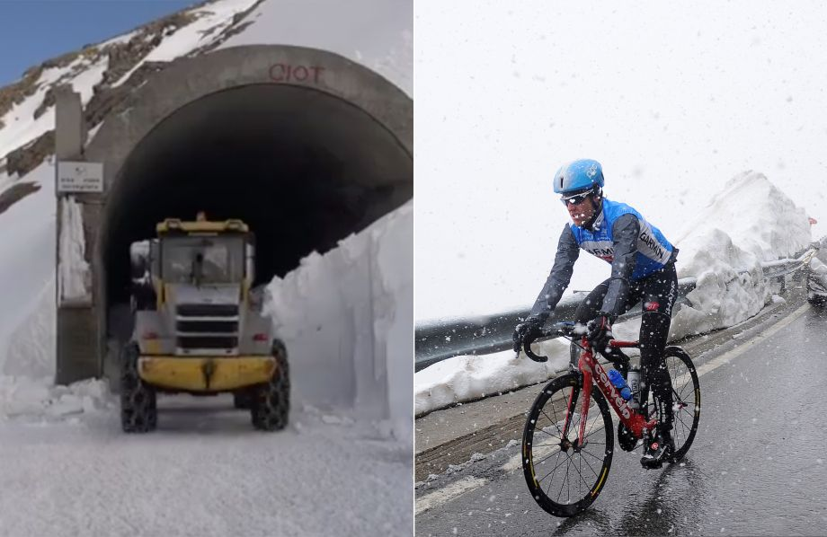 Watch: Heavy snow on the Gavia throws queen stage of the Giro d'Italia 2019 into question