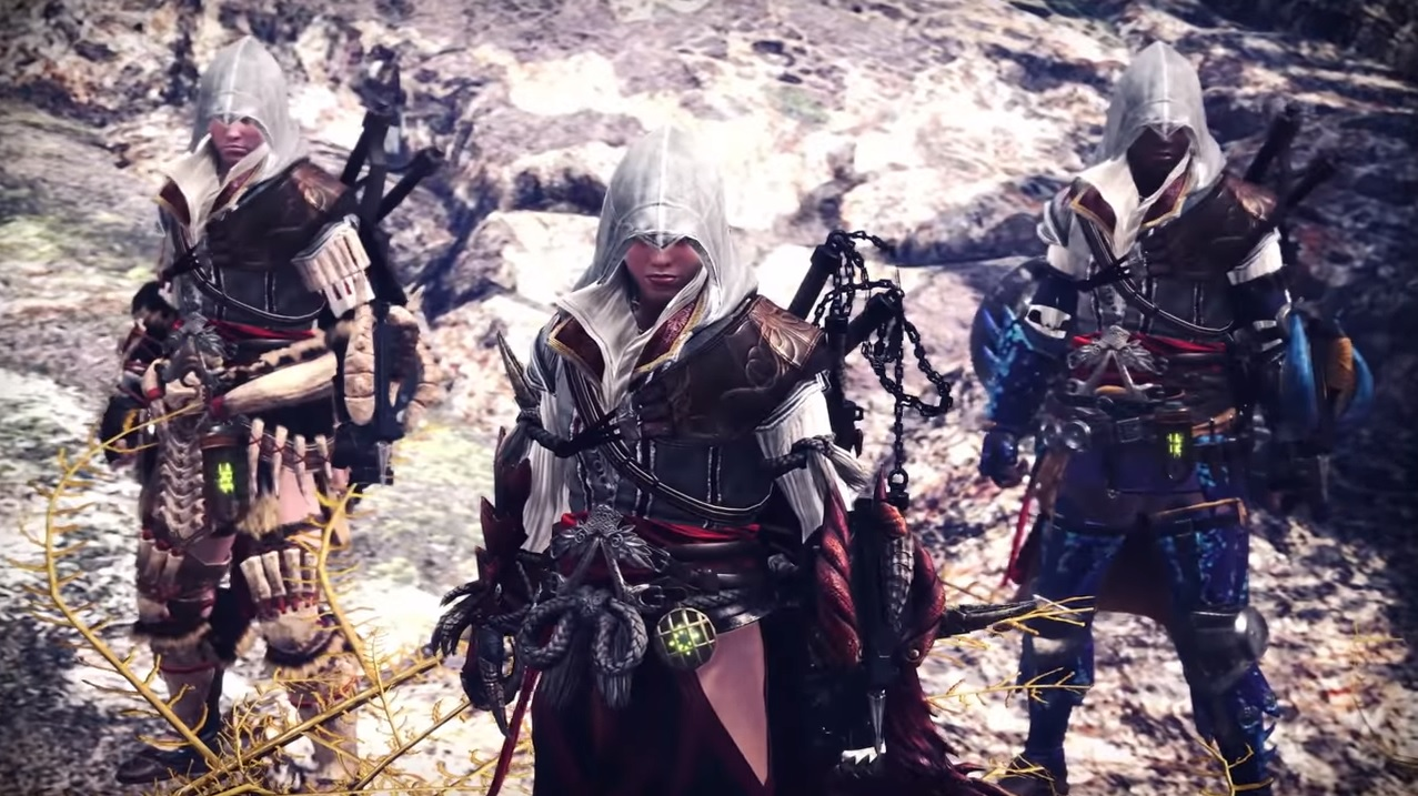 Assassins Creed Gear Comes To Monster Hunter World In New