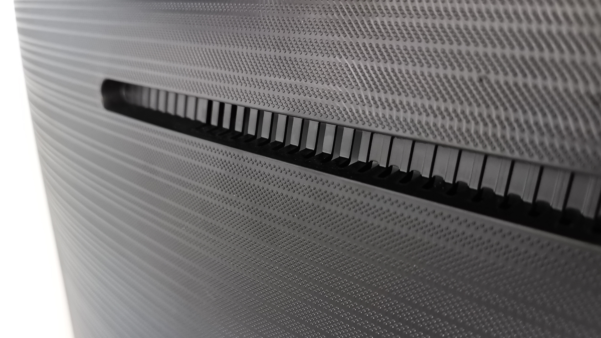 The back panel of the Samsung Q80T QLED TV
