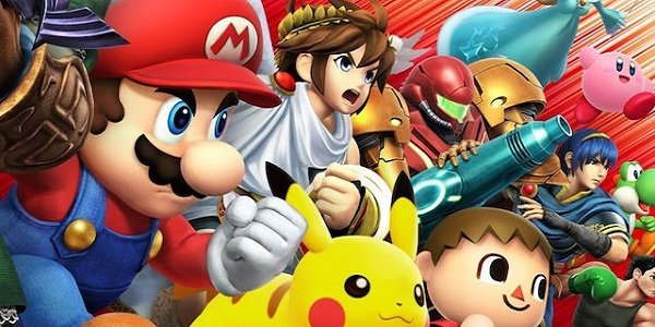Mario and his pals get ready for Smash Bros.