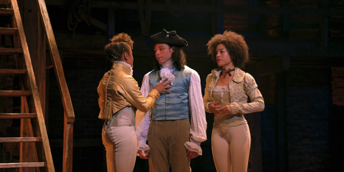 Anthony Ramos and the Bullet in Blow Us All Away in Hamilton