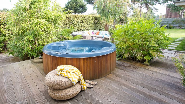 how to clean a hot tub on decking