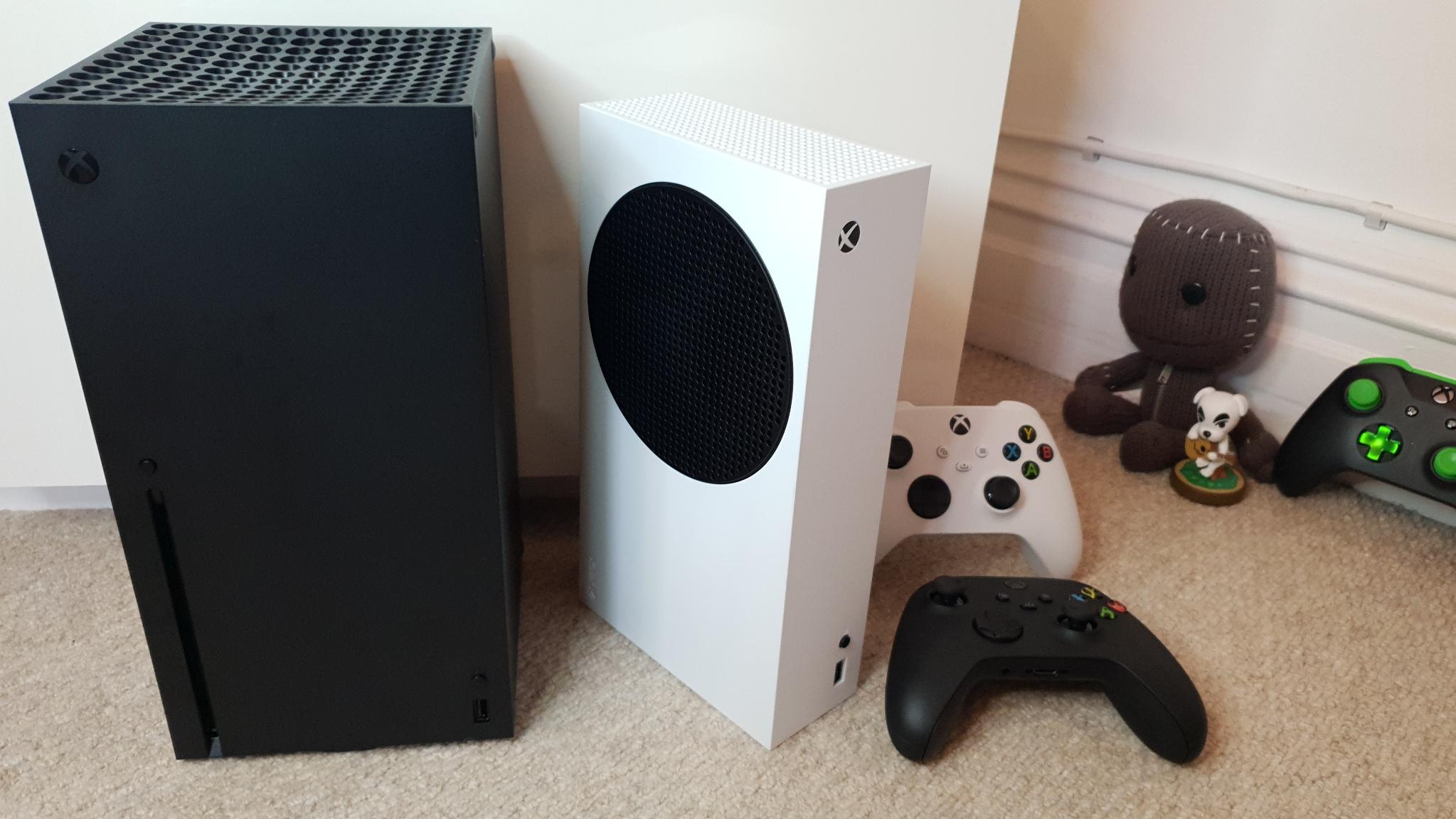 Xbox Series S with Xbox Series X
