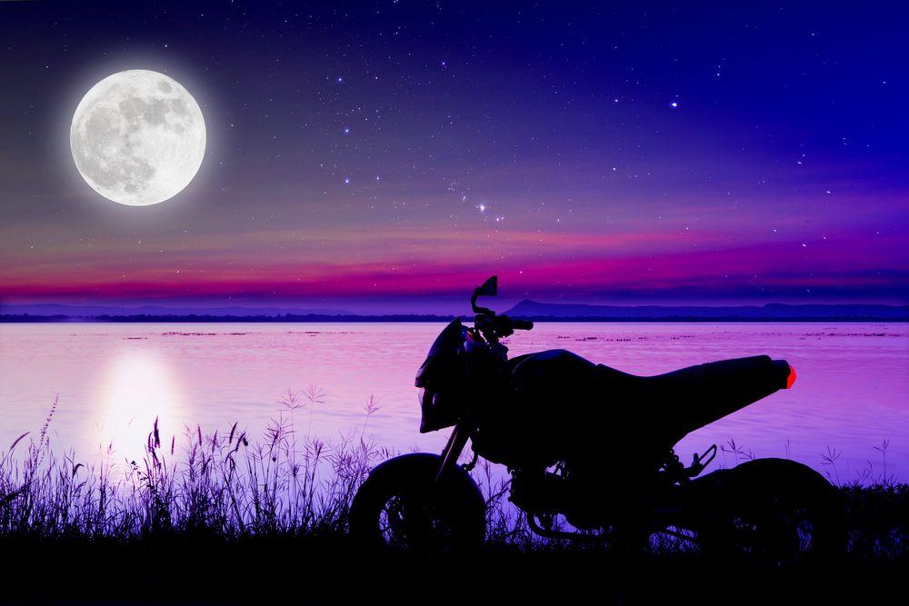 фото, картинки мотоцикл и ночь чего