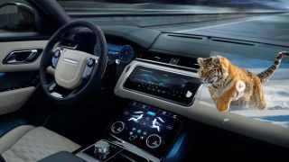 Jaguar Land Rover in-car 3D display