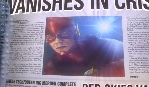 the flash newspaper photo vanishes in crisis