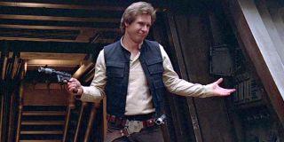 Han Solo shrugs in Star Wars Return of the Jedi