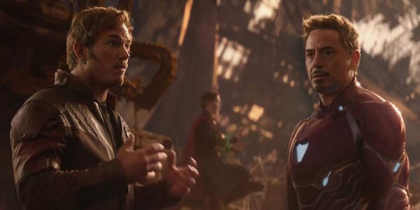 Star-Lord and Iron Man in Avengers: Infinity War