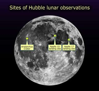 Hubble Searches for Oxygen on the Moon