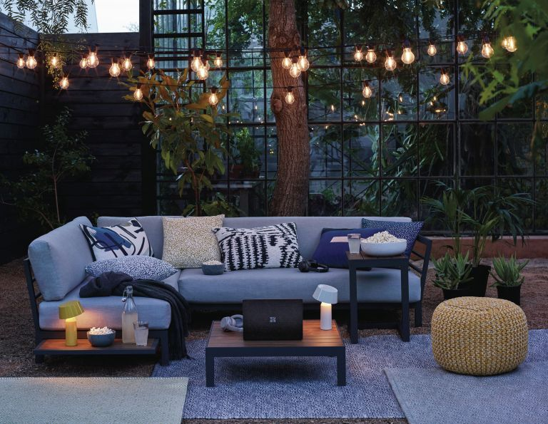 Grey outdoor sofa by John Lewis