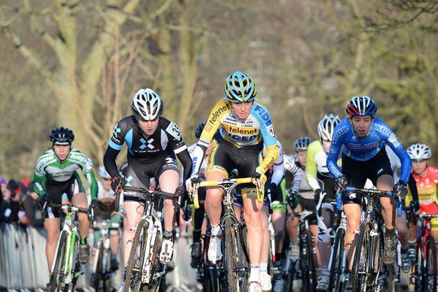 Women's race start, British cyclo-cross National Championships 2013