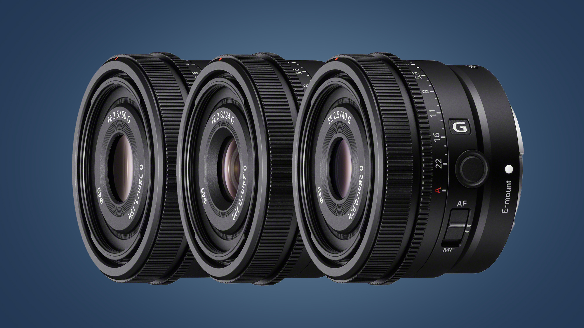 Sony launches tasty trio of prime lenses for its full-frame cameras