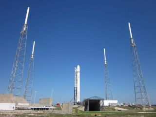 SpaceX Falcon 9 Rocket on Launch Pad