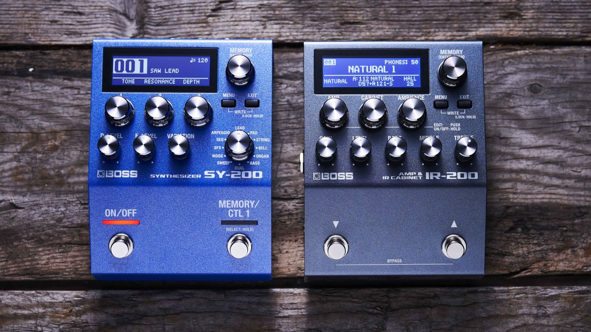 Boss breaks cover with IR-200 Amp & IR Cabinet and SY-200 Synthesizer pedals