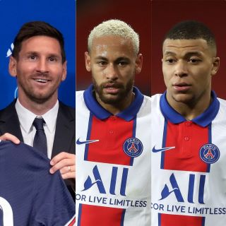 Lionel Messi, Neymar and Kylian Mbappe