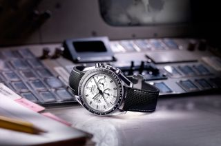 Omega's new Speedmaster Apollo 13 Silver Snoopy Award watch pays homage to the historic NASA mission 45 years ago.