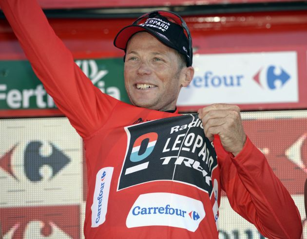 Chris Horner in race lead, Vuelta a Espana 2013, stage 10