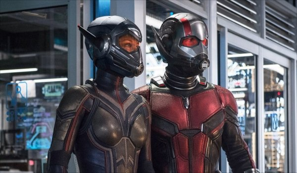 Ant-Man and the Wasp standing together
