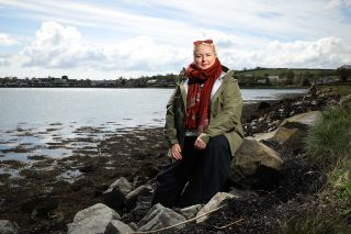 Derry Girls star Siobhán McSweeney enjoying a quiet moment while Exploring Northern Ireland.