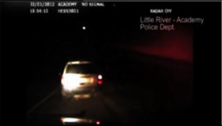 This fireball flying over Texas was captured by a Police car video camera on Feb. 1, 2012.