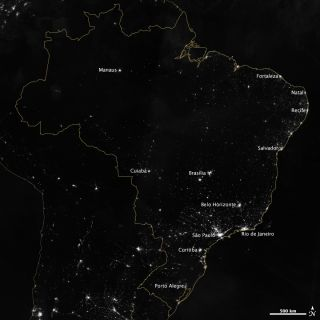 NASA's Earth Observatory captured this satellite image of Brazil.