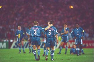 England Germany Euro 96 Stuart Pearce and Gareth Southgate