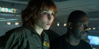 Noomi Rapace and Idris Elba in Prometheus