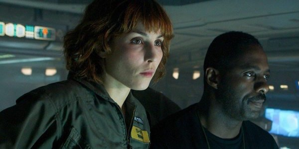 Noomi Rapace and Idris Elba in Prometheus