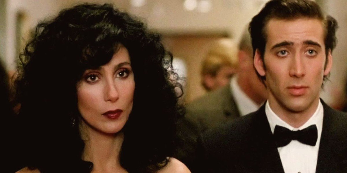 Nicolas Cage and Cher in Moonstruck