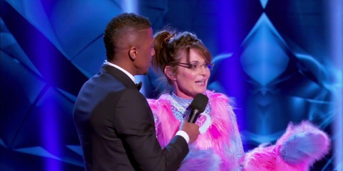 Sarah Palin As The Bear on The Masked Singer