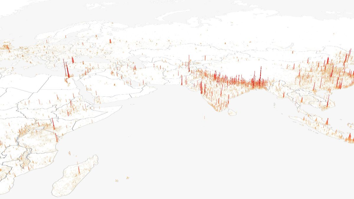Stunning dataviz project maps the world's population