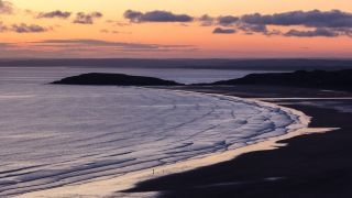 How to do seascape photography: A seascape photo from south Wales, UK