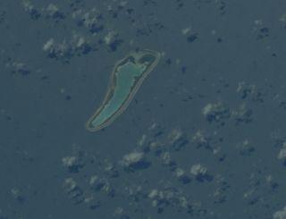 An astronaut image of the Nikumaroro Island in the Pacific Ocean