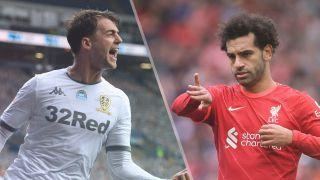 Leeds United vs Liverpool live stream — Patrick Bamford of Leeds United and Mohamed Salah of Liverpool