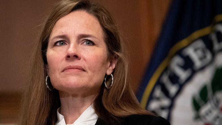 US Supreme Court Judge Amy Coney Barrett