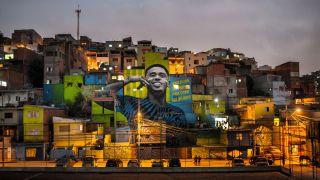 Brazilian footballer Gabriel Jesus returns to the streets.