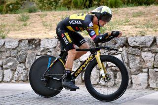 Primoz Roglic stage 1 time trial at the Vuelta a Espana