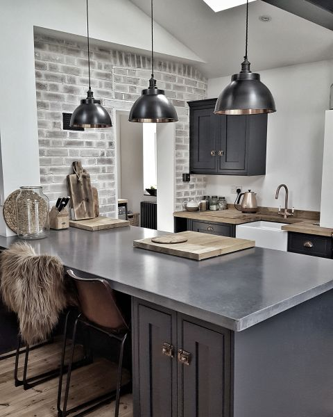 25 Grey Kitchen Ideas That Prove This, Grey Kitchen Cabinets What Colour Walls Uk