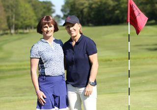 Golfer Alison Perkins with Martina Navratliova in The Trans Women Athlete Dispute