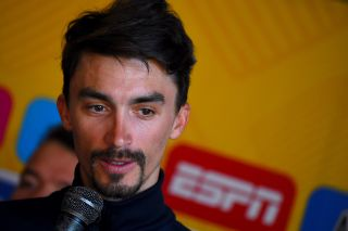 Julian Alaphilippe speaks at the 2020 Tour Colombia 2.1 press conference