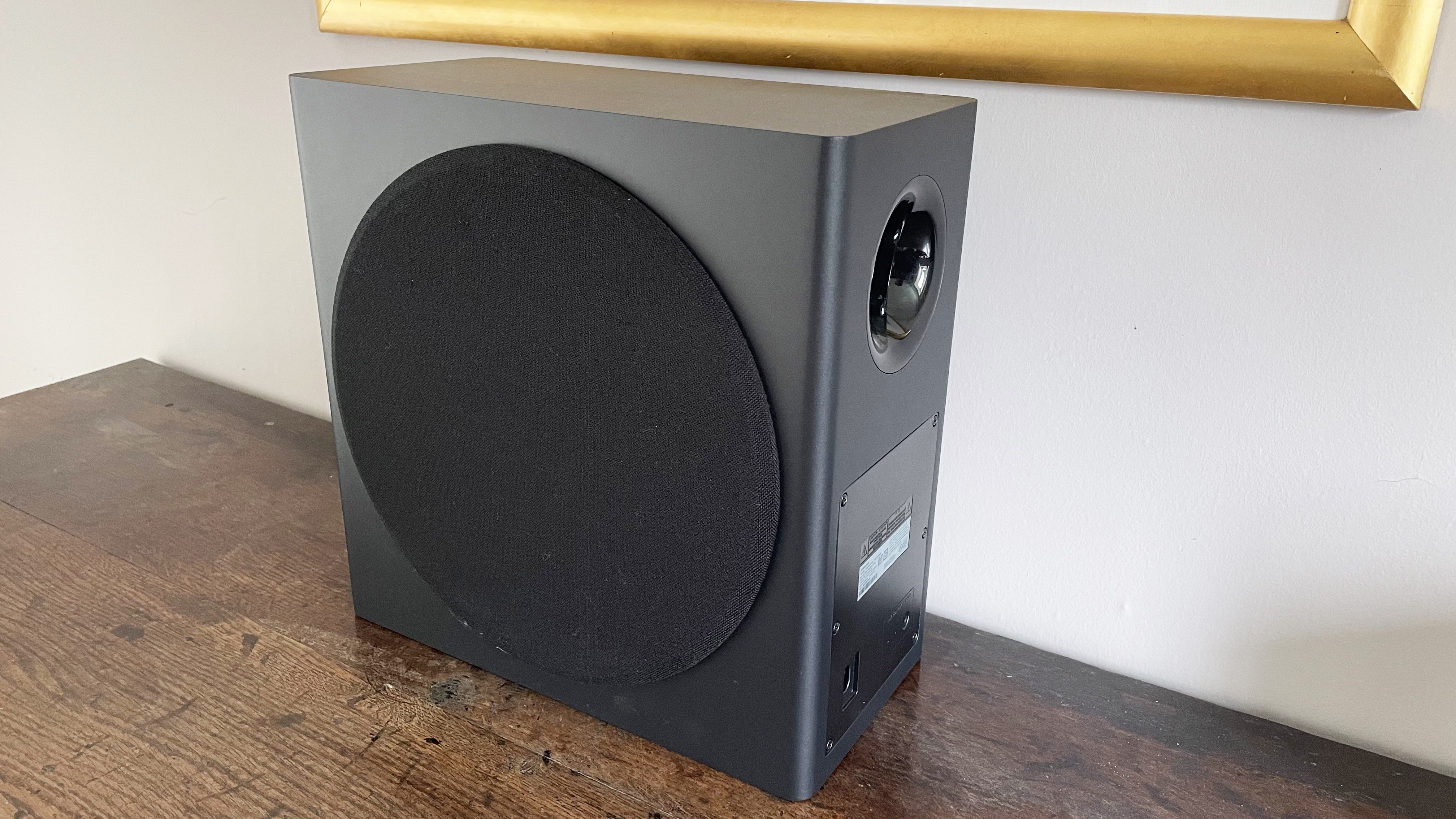 Samsung HW-Q950A subwoofer on its own