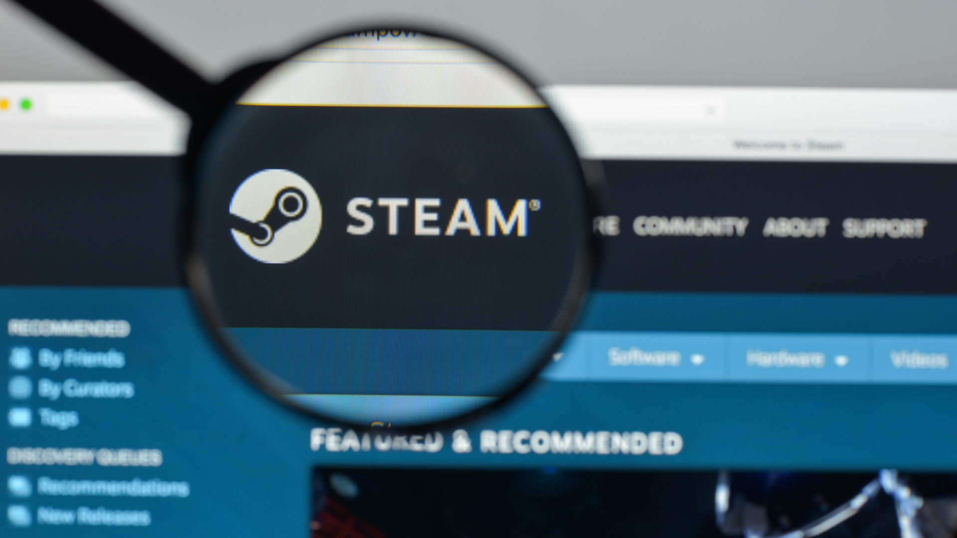 Steam behind a magnifying glass